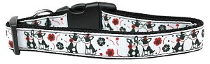 French Love Nylon Dog Collar Large